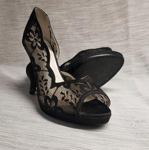 Lulu Townsend Peep Toe Heel Size 11